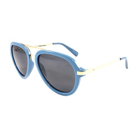 Men's MiramarPM Polarized Sunglasses // Slate Blue + Gold