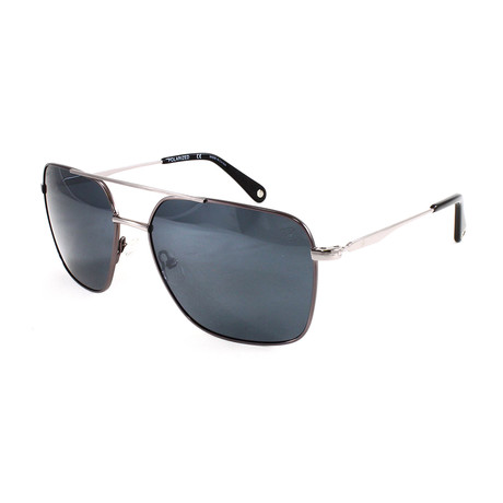Men's Silver Strand Polarized Sunglasses // Dark Gray + Gunmetal