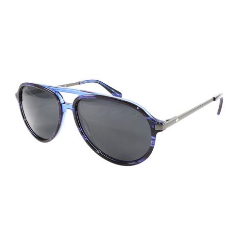Men's Oak Island Polarized Sunglasses // Navy Horn + Dark Gray