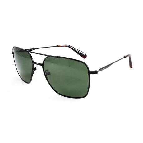 Men's Silver StrandPM Polarized Sunglasses // Black + Green