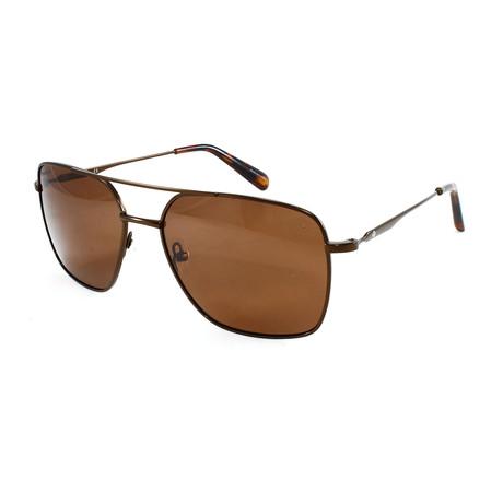 Men's  Polarized Sunglasses // Brown + Gold