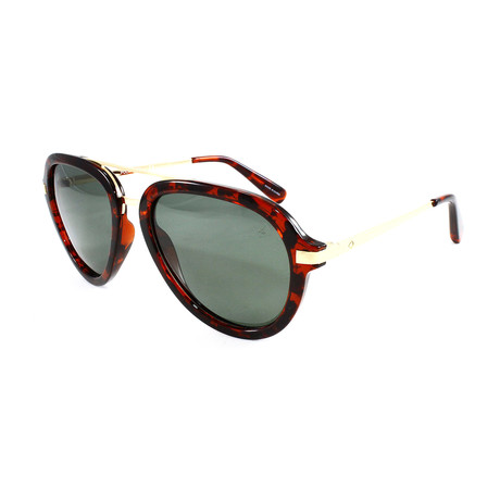 Men's MiramarPM Polarized Sunglasses // Tortoise + Gold + Green