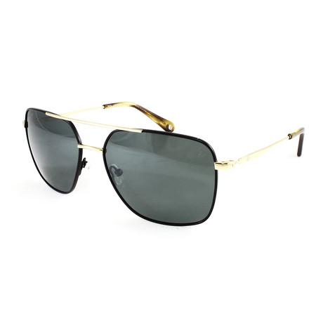 Men's Silver Strand Polarized Sunglasses // Black + Gold