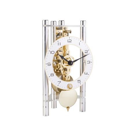 Lakin // Metal Dial + Arabic Numerals // Silver + Brass Pendulum