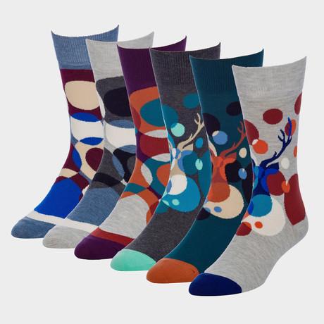 Warhol Imperial Crew Sock // Pack of 6