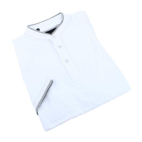 Contrasting Trim Polo // White (XS)