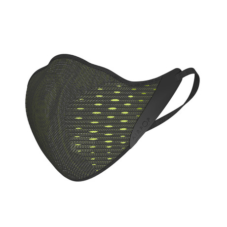 AirPOP Active Mask + 4 Filters (Black + Yellow)