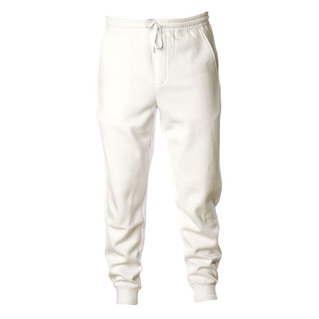 Pigment Dyed Fleece Sweatpants // White (S)