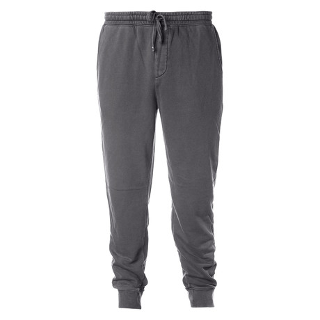 Pigment Dyed Fleece Sweatpants // Charcoal (S)
