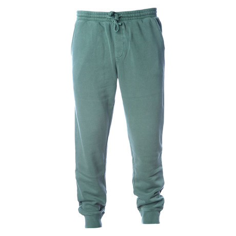 Pigment Dyed Fleece Sweatpants // Green (S)