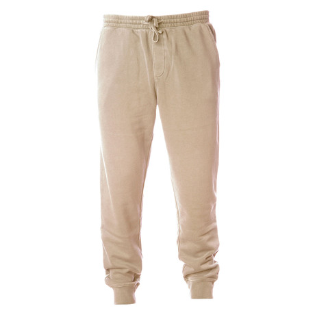 Pigment Dyed Fleece Sweatpants // Sand (S)