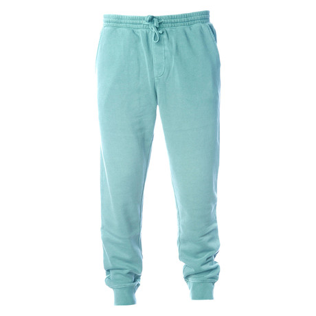 Pigment Dyed Fleece Sweatpants // Mint (S)