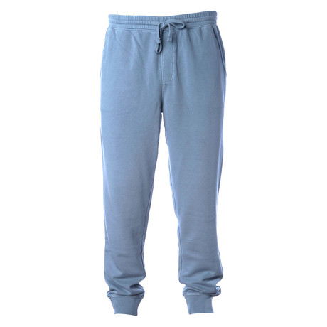 Pigment Dyed Fleece Sweatpants // Denim (S)