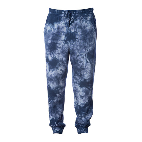 Tie Dye Fleece Sweatpants // Navy (S)