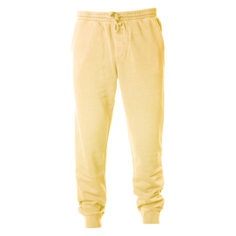 Pigment Dyed Fleece Sweatpants // Yellow (S)