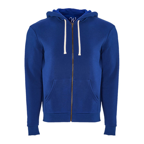 French Terry Zip Up Hoodie // Royal (S)