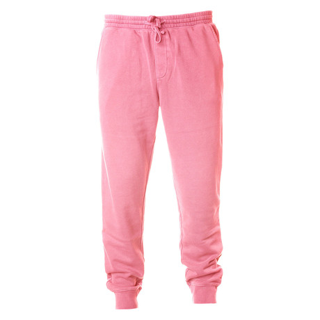 Pigment Dyed Fleece Sweatpants // Pink (S)