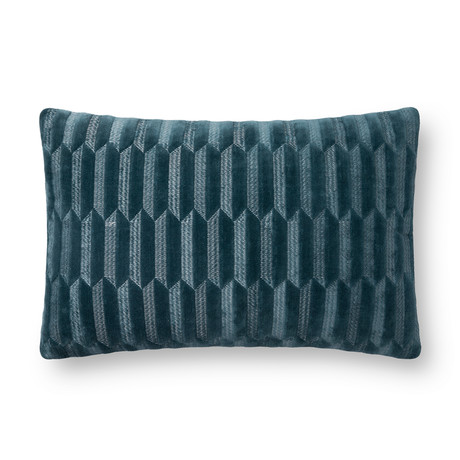 """Pillow Cover + Poly Fill // Teal // 13"""" x 21"""""""