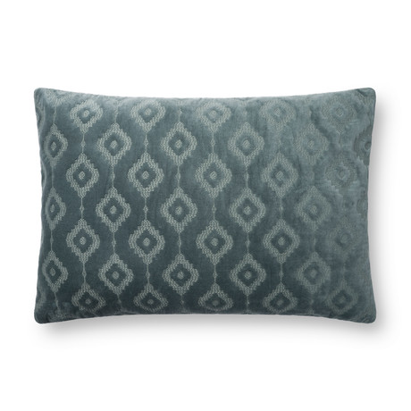 """Pillow Cover + Poly Fill // Azure // 16"""" x 26"""""""