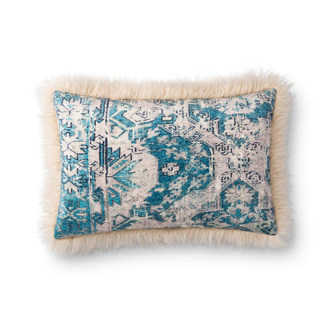 """Pillow Cover + Poly Fill // Multi + Ivory // 13"""" x 21"""""""