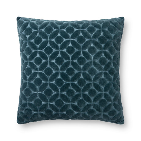 """Pillow Cover + Poly Fill // Teal // 22"""" x 22"""""""