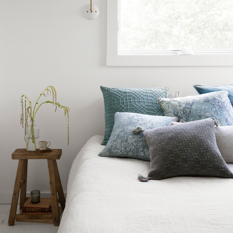 """Pillow Cover + Poly Fill // Light Blue // 22"""" x 22"""""""