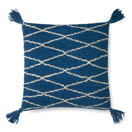 """Pillow Cover + Poly Fill // Blue // 22"""" x 22"""""""