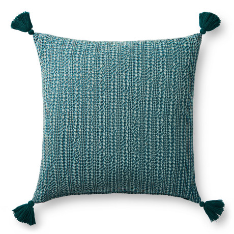 """Pillow Cover + Poly Fill // Green // 22"""" x 22"""""""