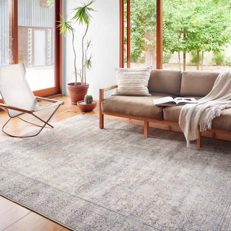 Wynter Area Rug // Silver + Charcoal (2'3 x 3'9)