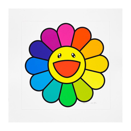Takashi Murakami // Smile on, Rainbow Flower // 2020