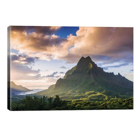 "Mount Rotui, Mo'orea, Windward Islands, Society Islands, French Polynesia // Matteo Colombo (26""W x 18""H x 1.5""D)"