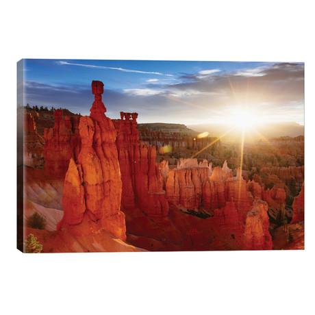 "Sunrise, Thor's Hammer, Bryce Canyon National Park, Utah, USA // Matteo Colombo (26""W x 18""H x 1.5""D)"