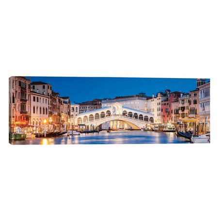 "Rialto Bridge At Night, Venice // Matteo Colombo (60""W x 20""H x 0.75""D)"