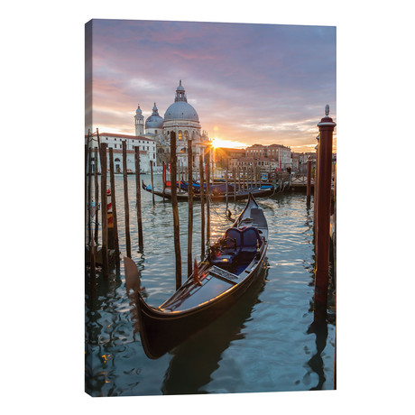 "Gondola At Sunset, Venice // Matteo Colombo (18""W x 26""H x 1.5""D)"