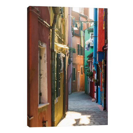 "Small Alley In Burano, Venice // Matteo Colombo (18""W x 26""H x 1.5""D)"