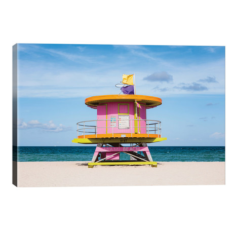 """Lifeguard Cabin, South Beach, Miami II // Matteo Colombo (26""""W x 18""""H x 1.5""""D)"""