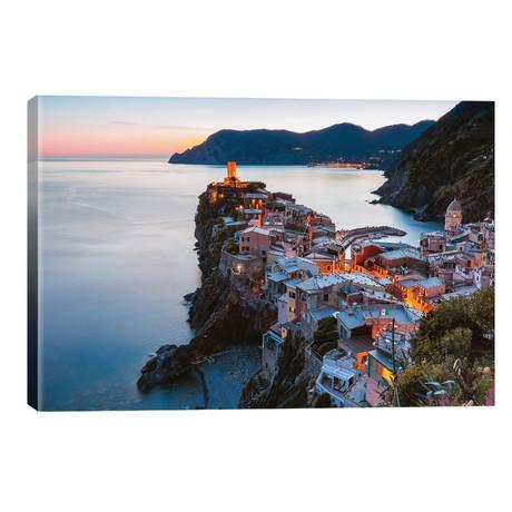 """Corniglia, Cinque Terre, Italy // Matteo Colombo (26""""W x 18""""H x 1.5""""D)"""