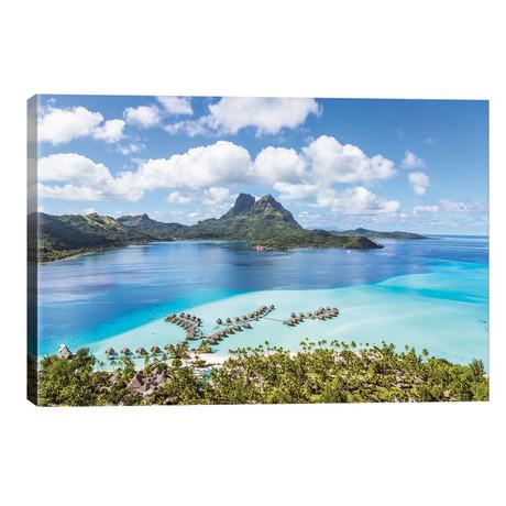 "Bora Bora Island, French Polynesia I // Matteo Colombo (26""W x 18""H x 1.5""D)"