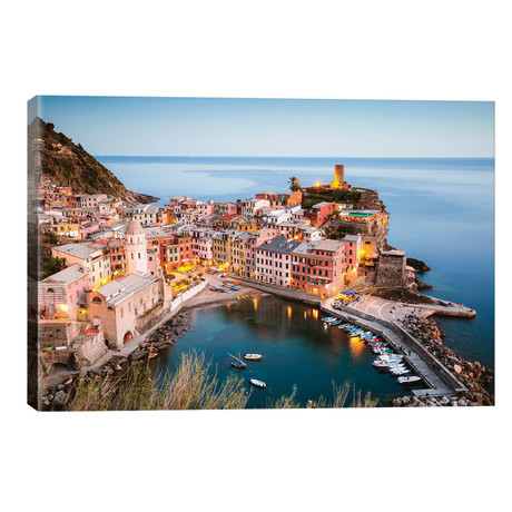 "Vernazza, Cinque Terre, Italy III // Matteo Colombo (26""W x 18""H x 1.5""D)"
