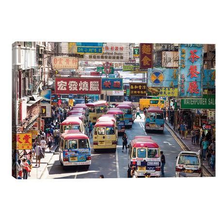 "Street Scene In Hong Kong // Matteo Colombo (26""W x 18""H x 1.5""D)"