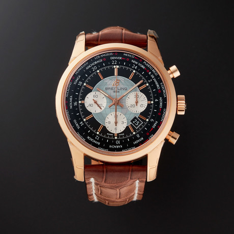 Breitling Transocean Unitime World Time Chronograph Automatic // RB0510U4/BB63 // Store Display