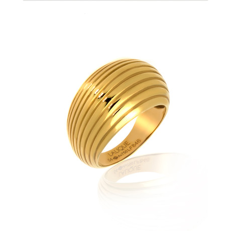 Lalique Vibrante 18k Yellow Gold Ring // Ring Size 7 // Store Display