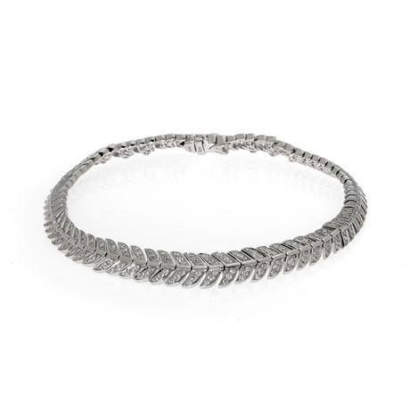 Lalique Eros 18k White Gold Diamond Bracelet // Store Display