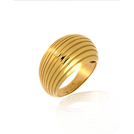 Lalique Vibrante 18k Yellow Gold Ring // Ring Size 5.75 // Store Display