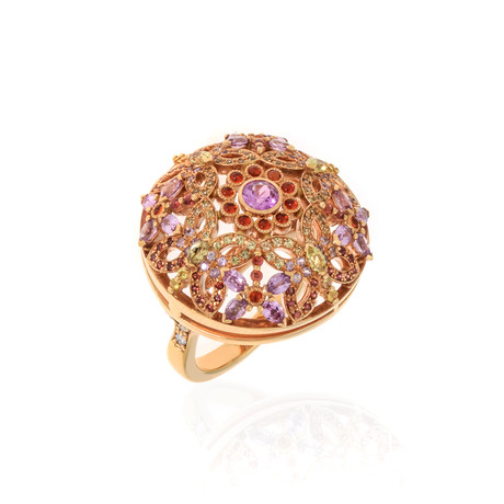 Lalique Psyches 18k Rose Gold Diamond + Sapphire Ring // Ring Size 7.25 // Store Display