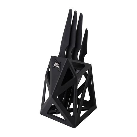 Precision Classic 4 Piece Set + Black Diamond XL Knife Block (Black)