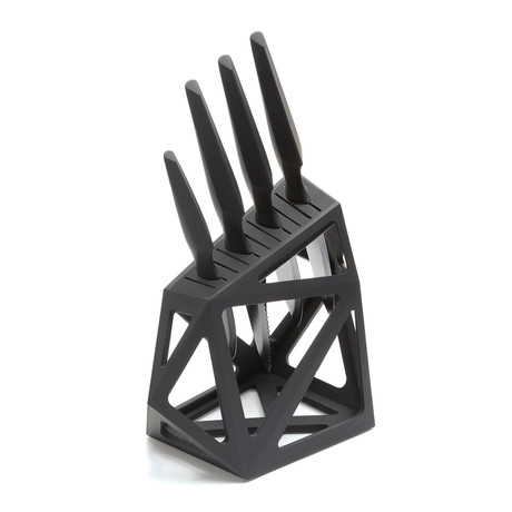 Precision Professional 4 Piece Set + Black Diamond XL Knife Block