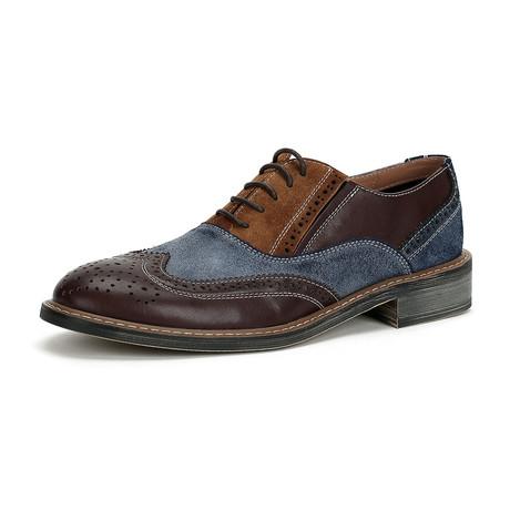 Caden Dress Shoes // Brown + Blue (Size 38)