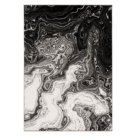 "Pepin // Black + Gray + Cream (2' x 2'11"")"