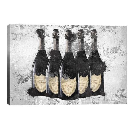 "Champagne II // Amanda Greenwood (26""W x 18""H x 1.5""D)"